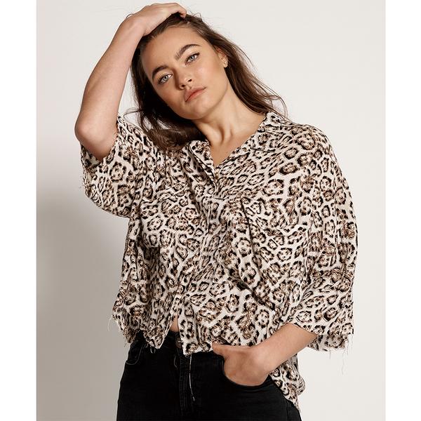 ONETEASPOON WW STONE LEOPARD MONTEGO BAY SHIRT 襯衫-(女)