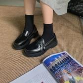 小皮鞋 黑色小皮鞋女英倫風2019秋季新款百搭復古學生休閑可愛森女平底鞋TB
