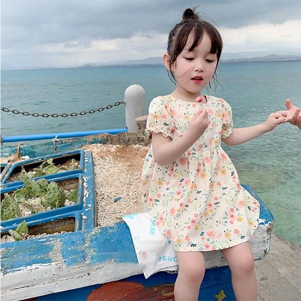 女童洋裝 寶寶碎花連身裙夏季透氣正韓田園風洋氣女童公主裙6661-Ballet朵朵
