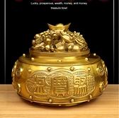 銅聚寶盆擺件招財聚財家居香爐客廳開運裝飾禮品
