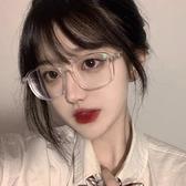 眼镜 韓國ulzzang原宿圓形復古經典大框平光眼鏡金屬男女透明鏡架【樂淘淘】