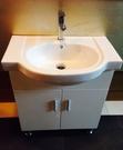 【麗室衛浴】高級陶瓷臉盆80*48CM+發泡板防水烤漆浴櫃76*深34*H65CM D-102-2