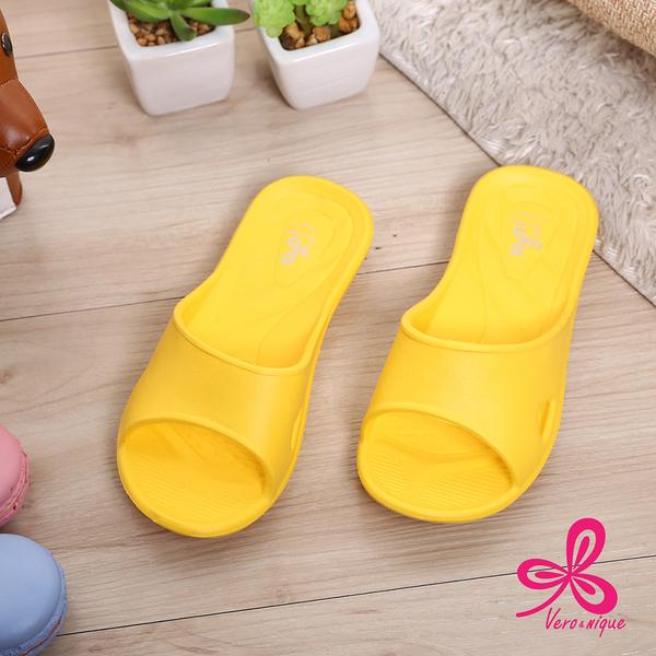 【333家居鞋館】維諾妮卡│兒童款 ● 舒適便利室內童拖鞋-黃