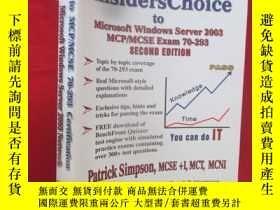 二手書博民逛書店Insiderschoice罕見to MCP MCSE Exam