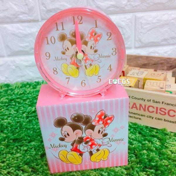 日本正品 迪士尼鬧鐘 米奇米妮 時鐘 桌鐘 桌上型鬧鐘 小鬧鐘 COCOS TG285