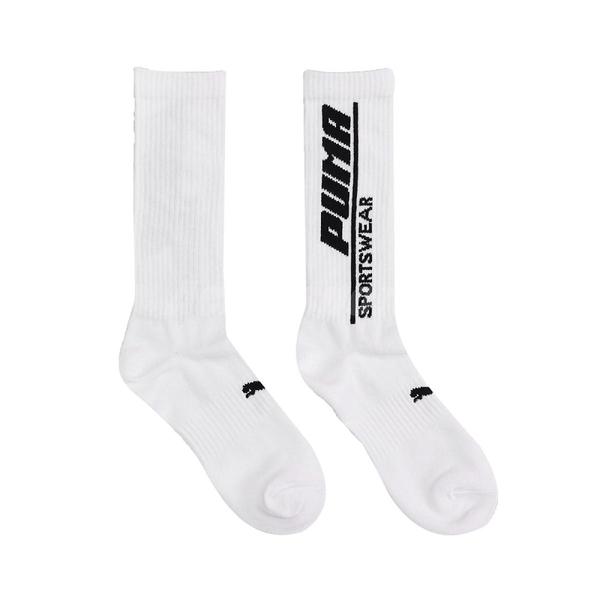 Puma 襪子 Classic Sock 男女款 白 單雙入 彪馬 字樣Logo 台灣製 長襪【ACS】 BB1240-01