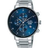 ALBA 雅柏 主張自我原創計時手錶-藍/44mm VD57-X146B(AM3667X1)