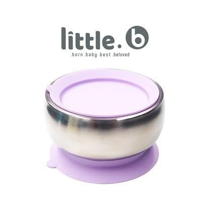 美國 little.b 316不鏽鋼餐具系列|雙層不鏽鋼吸盤碗-夢幻紫