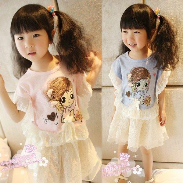韓版《娃娃蕾絲款》甜美短袖上衣