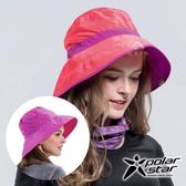 PolarStar 抗UV雙面遮陽帽 女『桃紅』P16510 台灣製造│抗UV帽│登山帽│路跑慢跑帽│遮陽帽│防曬帽
