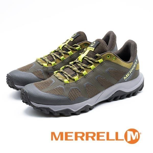【南紡購物中心】MERRELL (男) Fiery GTX 防水 運動戶外鞋-橄欖綠