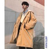 大衣外套 冬季新款男士棉衣韓版潮流中長款學生棉服外套毛呢大衣 萬客居