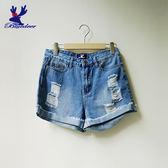 American Bluedeer-簡約刷破牛仔短褲