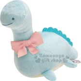 〔小禮堂〕角落生物 恐龍 絨毛玩偶娃娃《S.藍.粉蝴蝶結》擺飾.玩具 4974413-72576