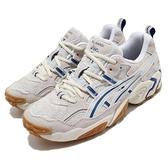 Asics 休閒鞋 Gel-Nandi 米 藍 男鞋 復刻 老爹鞋 運動鞋【ACS】 1021A502101