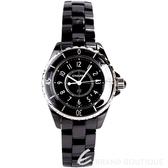 CHANEL J12 H0682 黑色精密陶瓷精鋼女錶-33mm 1710833-01