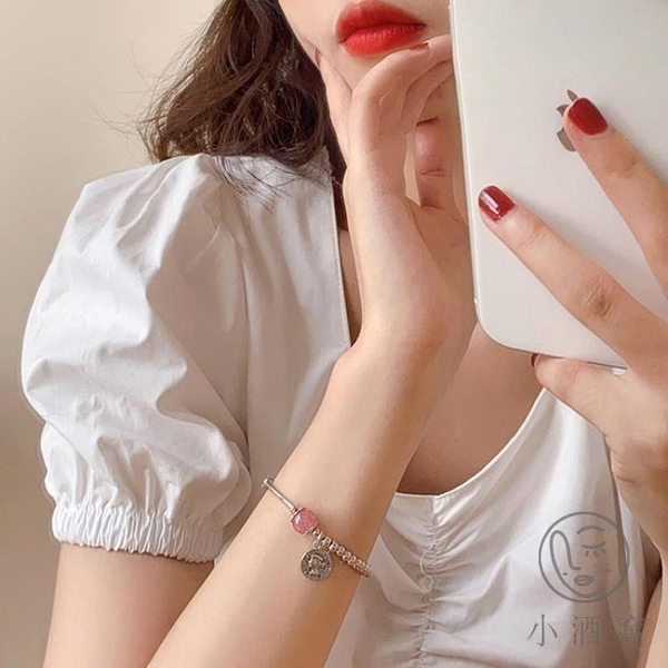 輕奢韓版手鍊女簡約珍珠閨蜜手飾花式沉淪【小酒窝服饰】