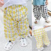 寶寶防蚊褲夏季新款嬰幼兒童樹葉休閒薄款長褲男6-12個月嬰兒長褲 美芭