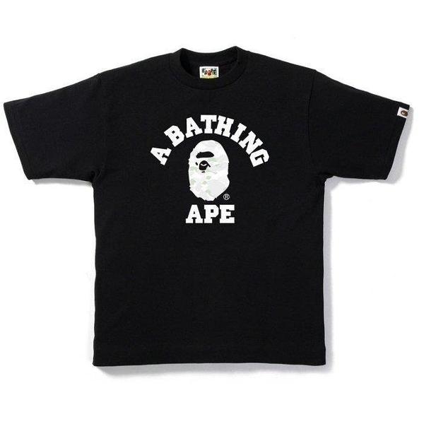 現貨 A Bathing APE 東京帶回 夜光經典款 女款 白迷彩 T恤 (S)