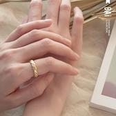 戒指 霧面啞光波浪螺紋C型開口戒指-BAi白媽媽【308340】