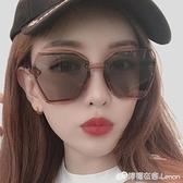 墨鏡女防紫外線眼鏡新款街拍太陽鏡男士圓臉ins韓版網紅 檸檬衣舍