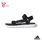 adidas涼鞋 男女童涼鞋 大童 沙灘涼鞋 運動涼鞋 休閒涼鞋 女鞋可穿 S9335#黑白◆OSOME奧森鞋業