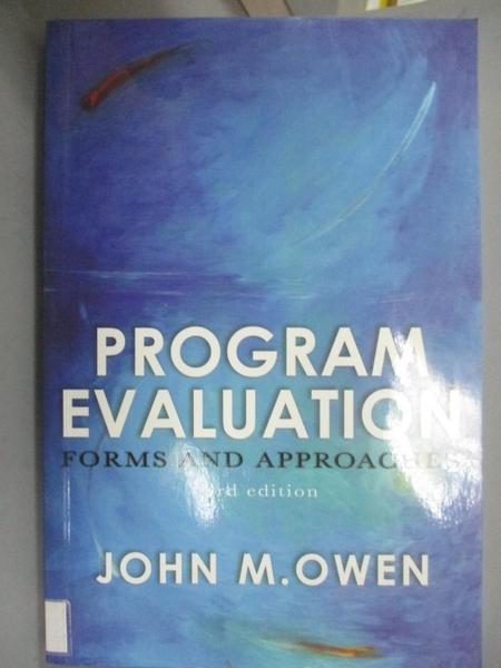 【書寶二手書T4/大學商學_YFC】Program Evaluation_John M Owen