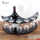 木制酒架紅酒架歐式吧臺時尚家用酒杯架葡萄酒架酒杯架一次元