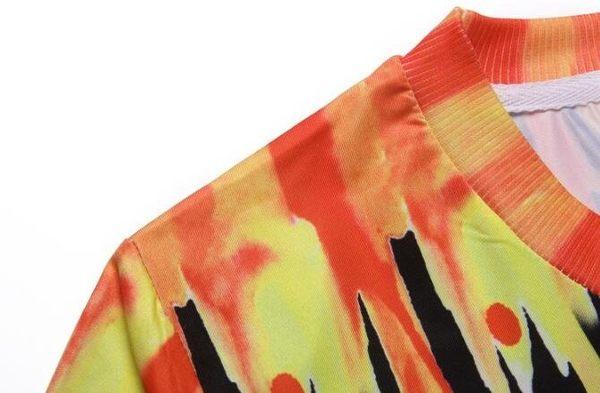 日系流行時尚迷彩色飛狼圖案短袖T恤 特色短T