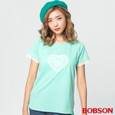 【BOBSON】女款心型蕾絲拉克蘭上衣   (28094-48)