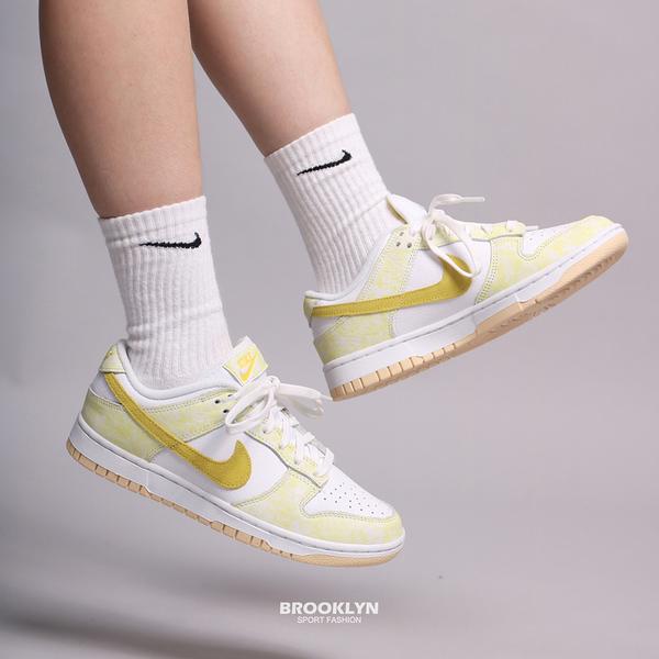 NIKE 休閒鞋 WMNS DUNK LOW YELLOW STRIKE 白黃 渲染 女 (布魯克林) DM9467-700
