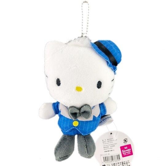 小禮堂 丹尼爾Daniel 絨毛吊飾 玩偶吊飾 鑰匙圈 (藍 西裝) 4549466-07662