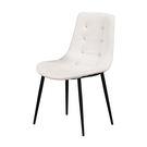 【森可家居】海柔白色皮餐椅 7ZX880-6 北歐風