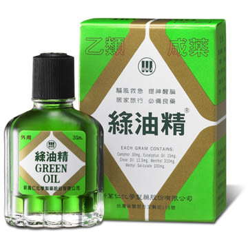 綠油精 3g (乙類成藥)【全成藥妝】