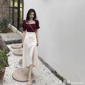 套裝女2020夏季新款時尚氣質小香風泫雅輕熟超仙洋裝兩件套