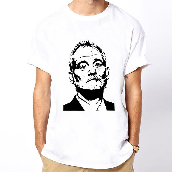 BILL MURRAY短袖T恤-白色 抓鬼特攻隊人物滑板街頭設計插畫潮流相片照片歌手