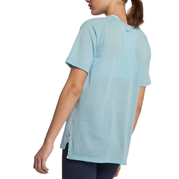 NIKE TAILWIND 女裝 短袖 慢跑 訓練 柔軟 透氣 乾爽 水藍【運動世界】 890192-452