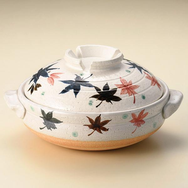 日本陶鍋【信樂燒】楓葉 6號鍋 土鍋 砂鍋 日本製陶瓷