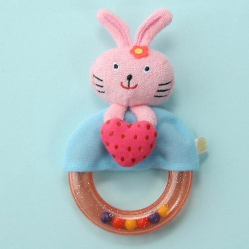 日本 Rub a dub dub 嬰幼兒手搖鈴 - 兔子