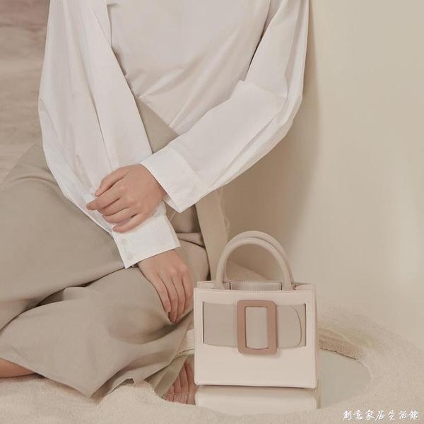 新款小眾設計包包 奶油蛋糕托特包手提包女小包包斜背包女包