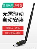免驅USB無線網卡臺式機千兆筆記本家用電腦wifi接收器迷你無限網絡信號驅動5G上網卡雙頻w 艾家