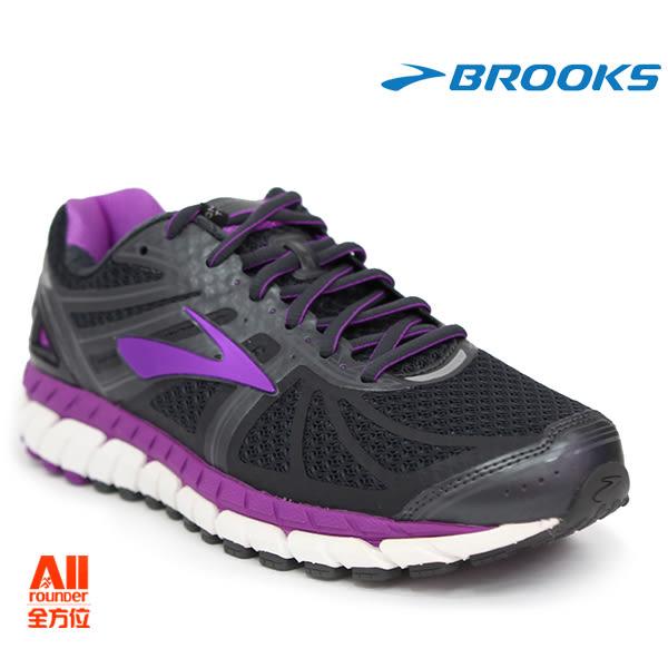【BROOKS】女款支撐型慢跑鞋 寬楦 ARIEL 16 -黑紫色(192E059) 全方位跑步概念館