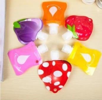 預購-旅行便攜式乳液面霜分裝瓶 水果造型軟包裝沐浴露瓶