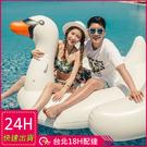 【現貨】梨卡 - 充氣白天鵝浮排座騎坐騎玩水必備另售其他款式充氣坐墊座騎M081