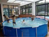 超大號兒童成人圓形支架游泳池大型家用戶外大型家庭充氣戲水池 igo  酷男精品館