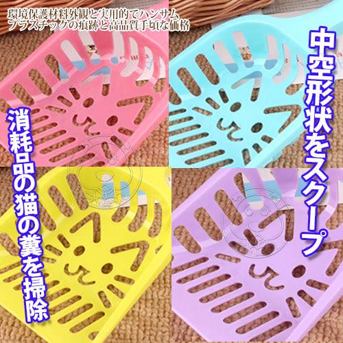 【zoo寵物商城】  dyy》可愛貓咪形狀鏤空貓砂鏟多色隨機出貨