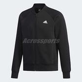 adidas 外套 Comm Bomber 3S Jacket 男款 長袖 上衣 拉鍊 素面 夾克 黑 【ACS】 DW4655