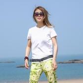 夏季戶外速干衣女短袖t恤彈力運動登山跑步吸汗透氣反光快干衣女