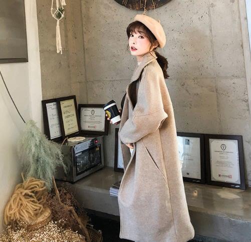 SHINE KOREA 秋冬新款簡約氣質毛呢大衣