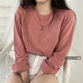 基礎款純色長袖竹節棉T恤2020新款秋季女韓版寬鬆ins打底衫上衣潮 【雙十二下殺】
